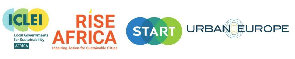 Logos of ICLEI, Rise Africa, Start and JPI Urban Europe
